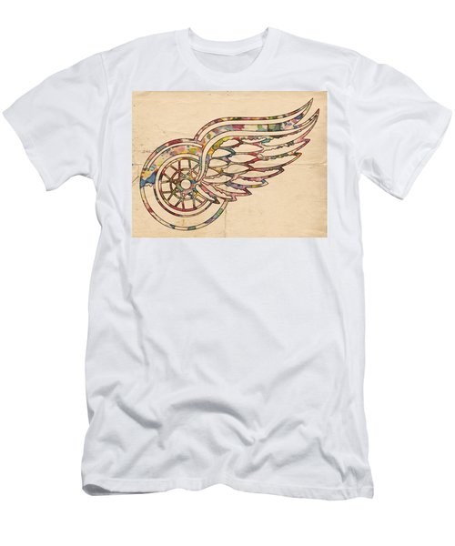 Detroit Red Wings Poster Art Men's T-Shirt (Athletic Fit)
