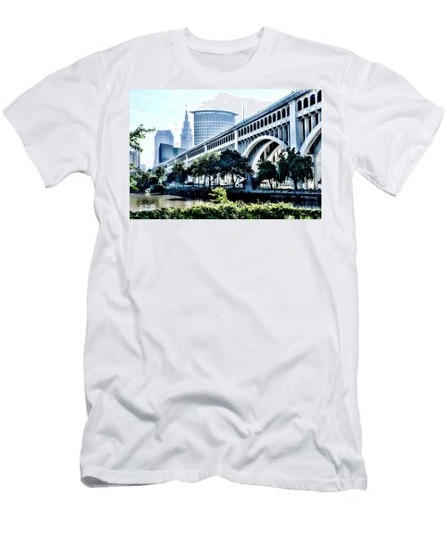 Detroit-superior Bridge - Cleveland Ohio - 1 Men's T-Shirt (Athletic Fit)