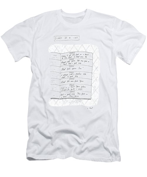 Diary Of A Cat: Men's T-Shirt (Athletic Fit)