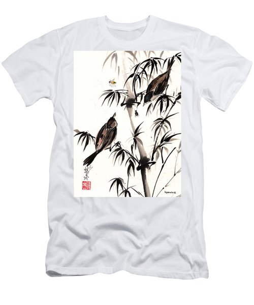 Men's T-Shirt (Slim Fit) featuring the painting Dibs by Bill Searle