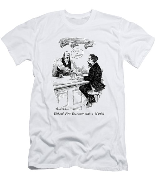 Dickens' First Encounter With A Martini Men's T-Shirt (Athletic Fit)