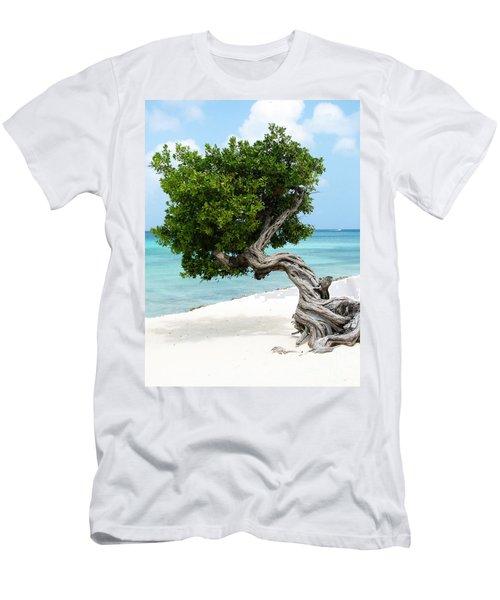 Divi Divi Tree In Aruba Men's T-Shirt (Athletic Fit)