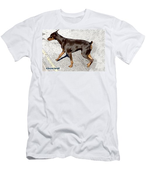 Doberman Men's T-Shirt (Athletic Fit)