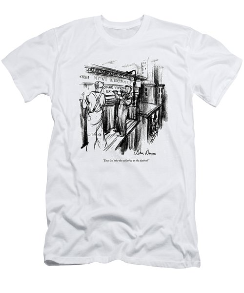 Does 'ex' Take The Ablative Or The Dative? Men's T-Shirt (Athletic Fit)