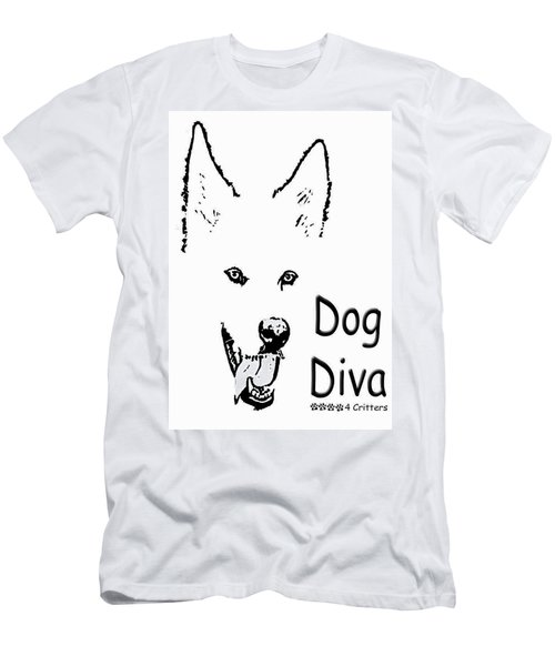 Dog Diva Men's T-Shirt (Athletic Fit)