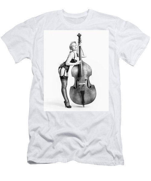 Doghouse With Mosh - String Bass Baby   Men's T-Shirt (Athletic Fit)