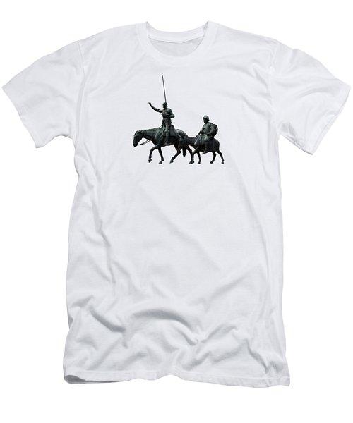 Don Quixote And Sancho Panza  Men's T-Shirt (Athletic Fit)