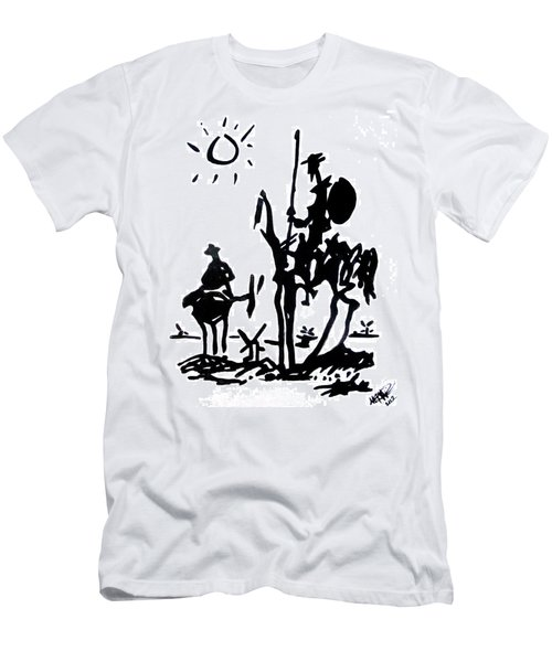 Men's T-Shirt (Athletic Fit) featuring the painting Don Quixote by Michelle Dallocchio