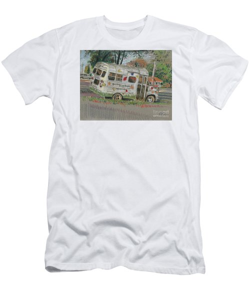 Men's T-Shirt (Slim Fit) featuring the painting Doodlebugs Bus by Donald Maier