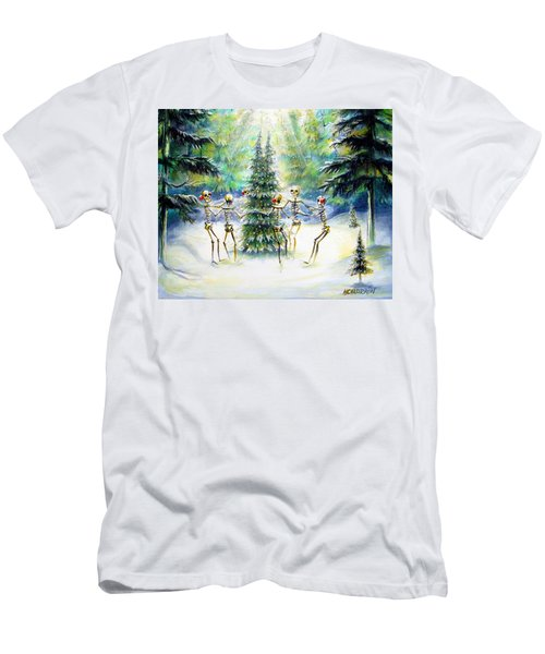 Men's T-Shirt (Slim Fit) featuring the painting Dos Arbolitos by Heather Calderon
