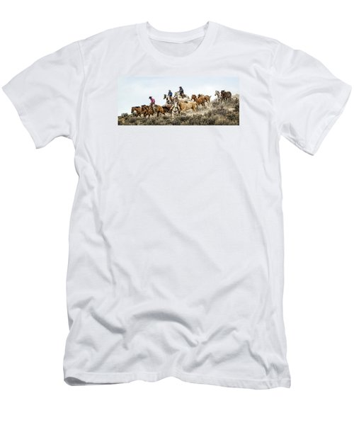Men's T-Shirt (Slim Fit) featuring the photograph Down The Hill by Joan Davis