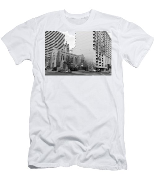 Downtown Church  Men's T-Shirt (Athletic Fit)