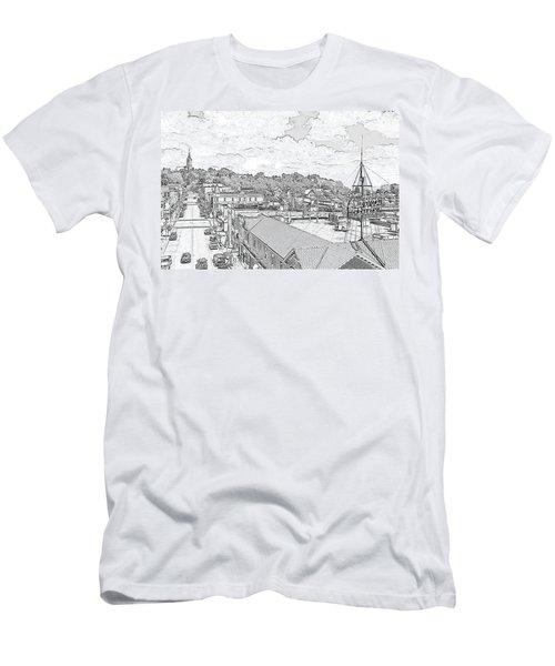 Downtown Port Washington Men's T-Shirt (Athletic Fit)