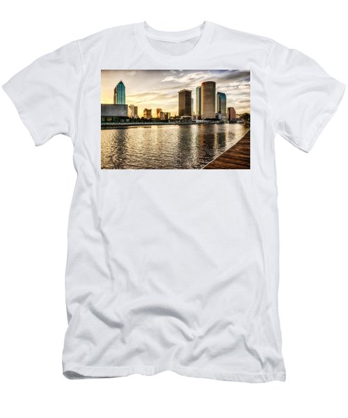 Downtown Tampa At Sunrise Men's T-Shirt (Athletic Fit)