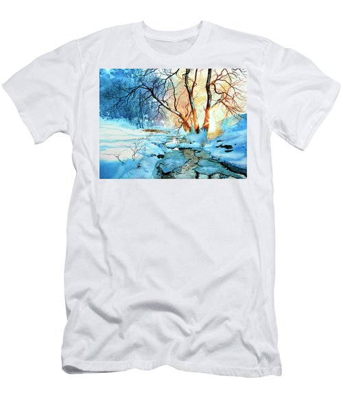Men's T-Shirt (Athletic Fit) featuring the painting Drawn To The Sun by Hanne Lore Koehler