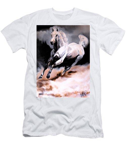 Dream Horse Series 20 - White Lighting Men's T-Shirt (Slim Fit) by Cheryl Poland
