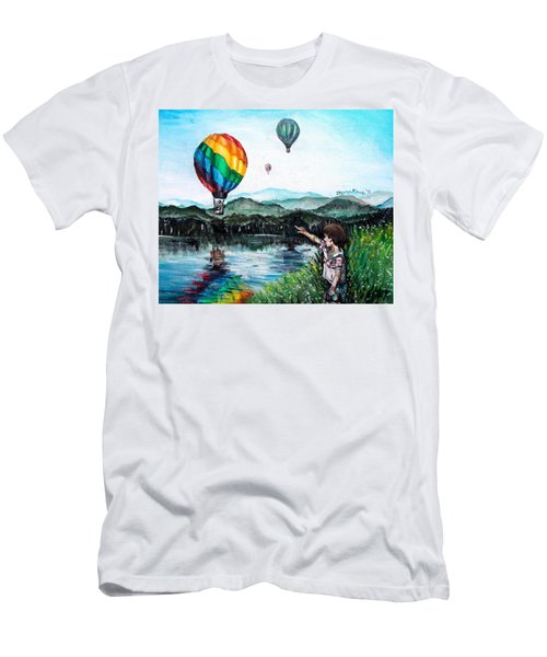 Men's T-Shirt (Slim Fit) featuring the painting Dreams Do Come True by Shana Rowe Jackson