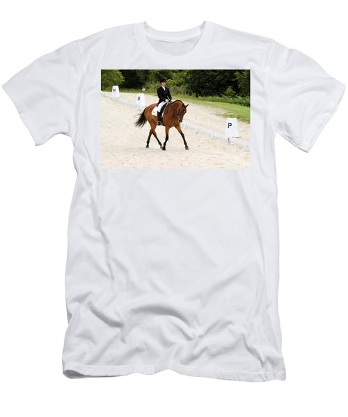 Dressage Test Men's T-Shirt (Athletic Fit)