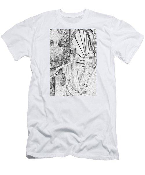 Drive Wheels Dm  Men's T-Shirt (Slim Fit) by Daniel Thompson