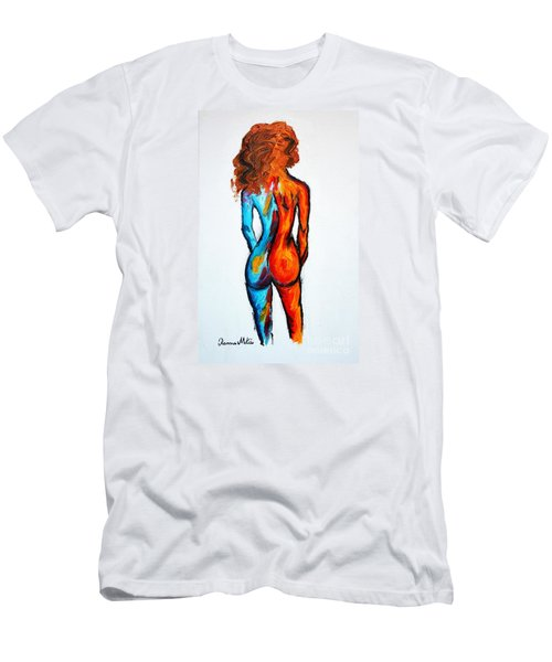 Men's T-Shirt (Slim Fit) featuring the painting Duality by Ramona Matei
