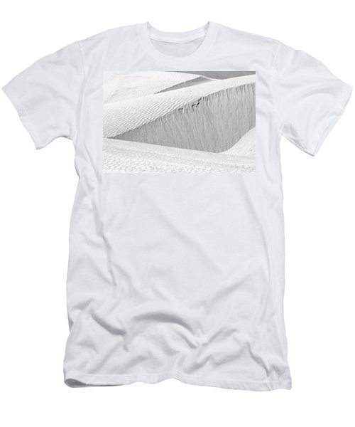 Men's T-Shirt (Athletic Fit) featuring the photograph Dune Abstract, Paryang, 2011 by Hitendra SINKAR