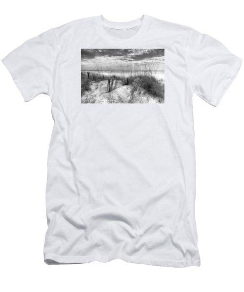 Dune Fences Men's T-Shirt (Slim Fit) by Debra and Dave Vanderlaan