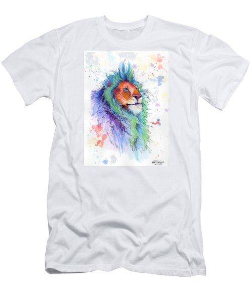 Easter Lion Men's T-Shirt (Slim Fit) by Arleana Holtzmann