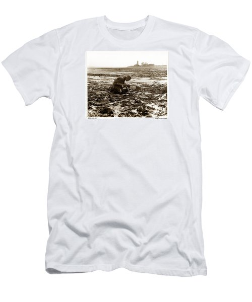 Ed Ricketts At Point Wilson Lighthouse In Port Townsend Wa 1930 Men's T-Shirt (Slim Fit) by California Views Mr Pat Hathaway Archives