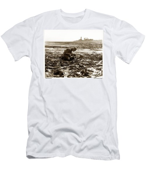 Ed Ricketts At Point Wilson Lighthouse In Port Townsend Wa July 1930 Men's T-Shirt (Athletic Fit)