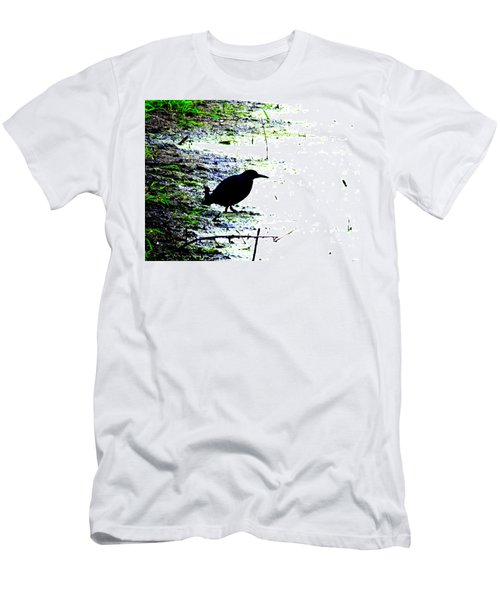 Edgar Allan Poe's Raven On The Edge Of Oblivion By Ron Tackett Men's T-Shirt (Athletic Fit)