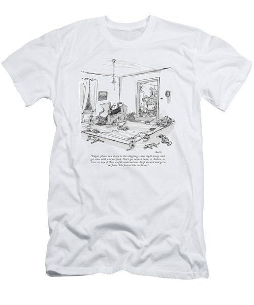Edgar, Please Run Down To The Shopping Center Men's T-Shirt (Athletic Fit)