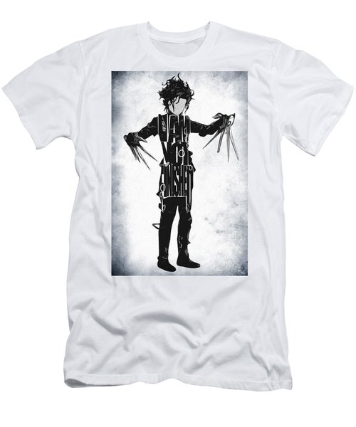 Edward Scissorhands - Johnny Depp Men's T-Shirt (Slim Fit) by Ayse Deniz