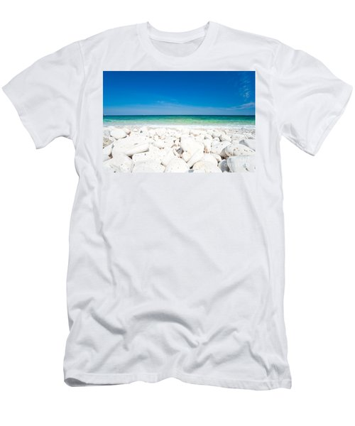 Elba - Capo Bianco  Men's T-Shirt (Slim Fit) by Luciano Mortula