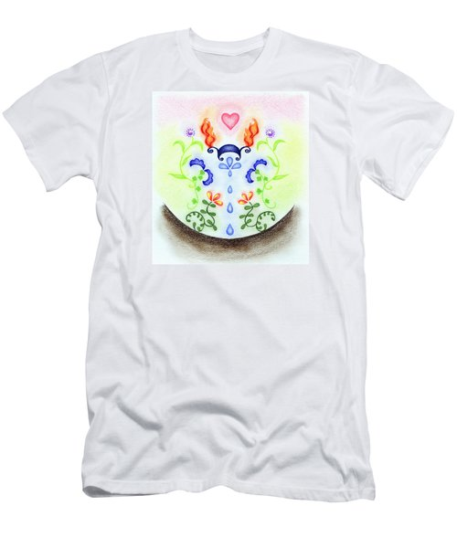 Men's T-Shirt (Slim Fit) featuring the drawing Elements by Keiko Katsuta