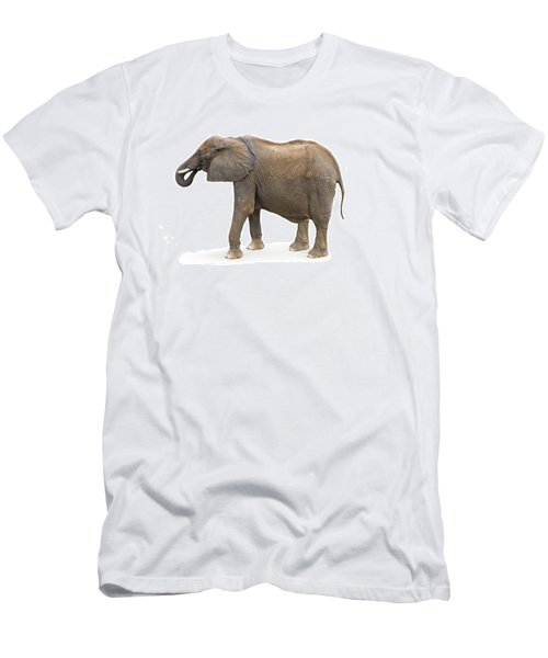 Men's T-Shirt (Slim Fit) featuring the photograph Elephant by Charles Beeler