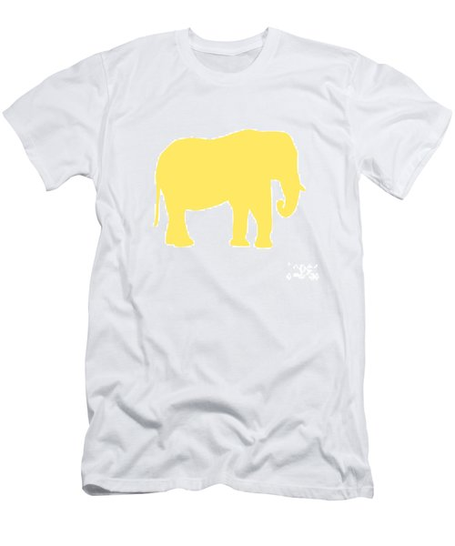 Elephant In Yellow And White Men's T-Shirt (Athletic Fit)