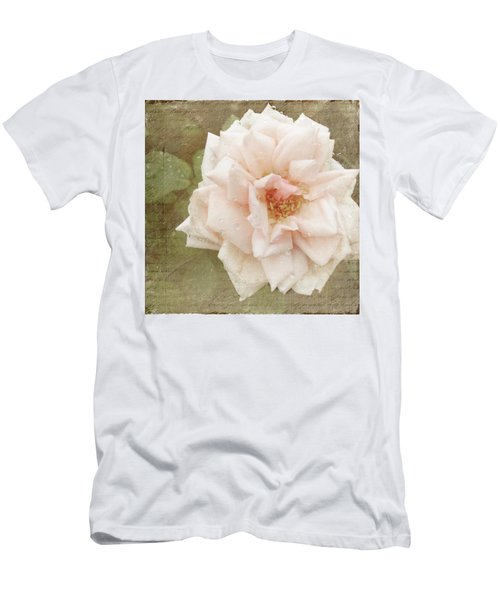 Elie Beauvillain Rose Textured Art Men's T-Shirt (Athletic Fit)