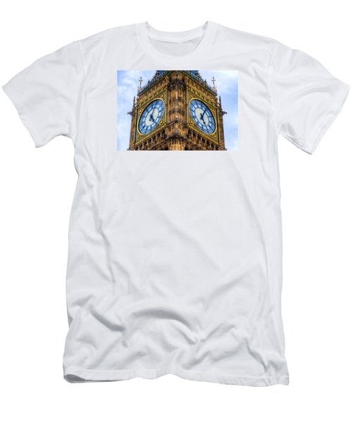 Men's T-Shirt (Slim Fit) featuring the photograph Elizabeth Tower Clock by Tim Stanley