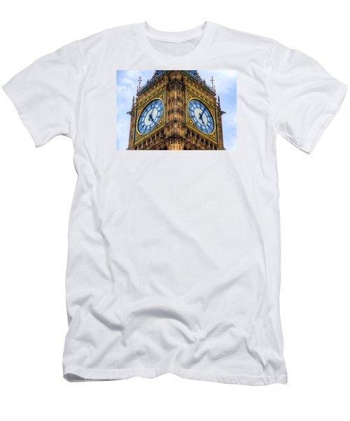 Elizabeth Tower Clock Men's T-Shirt (Slim Fit) by Tim Stanley