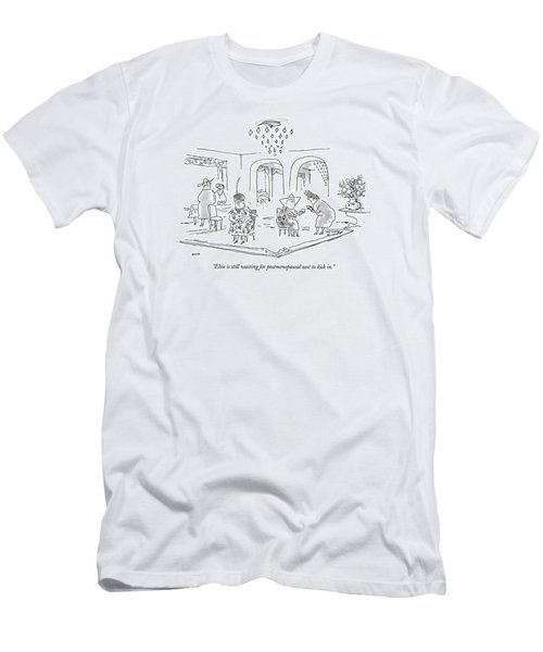 Elsie Is Still Waiting For Postmenopausal Zest Men's T-Shirt (Athletic Fit)