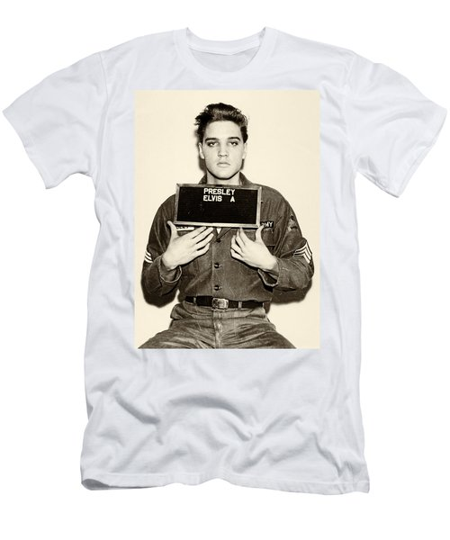 Elvis Presley - Mugshot Men's T-Shirt (Athletic Fit)