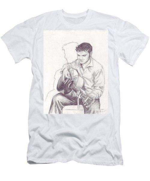 Elvis Sketch Men's T-Shirt (Athletic Fit)