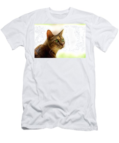 Men's T-Shirt (Slim Fit) featuring the photograph Emerald Eyes by Olga Hamilton