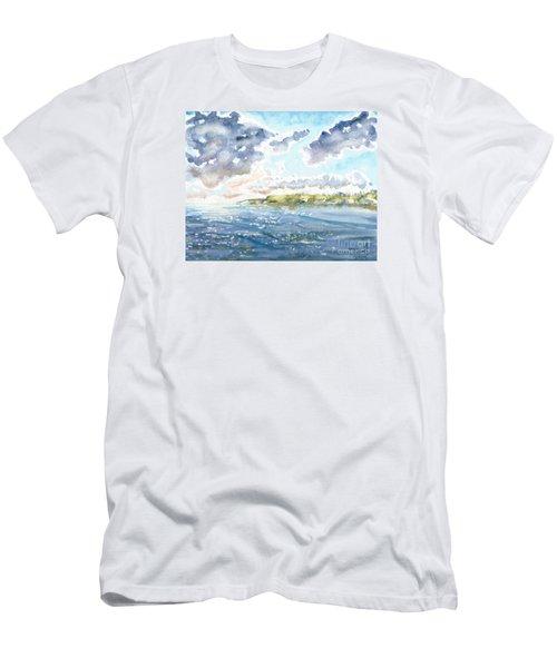 Emerging Sun  Men's T-Shirt (Athletic Fit)