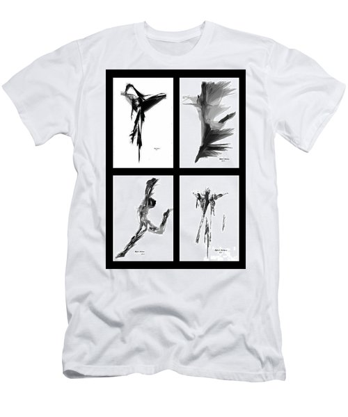 Emotions In Black - Abstract Quad Men's T-Shirt (Athletic Fit)