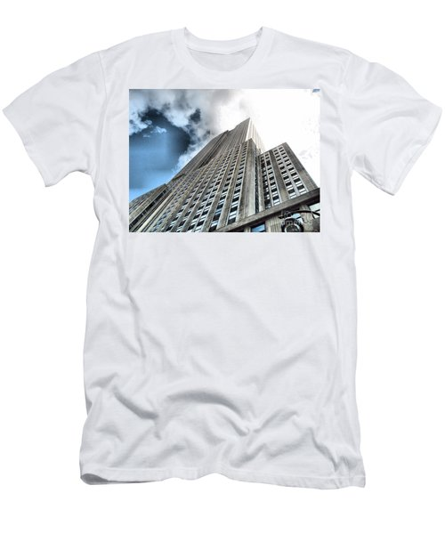 Empire State Building - Vertigo In Reverse Men's T-Shirt (Athletic Fit)