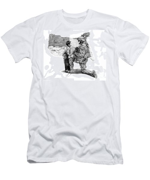 Men's T-Shirt (Slim Fit) featuring the drawing Empty Pockets  by Peter Piatt