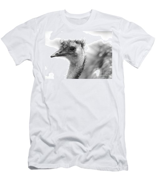Emu - Black And White Men's T-Shirt (Slim Fit) by Carol Groenen