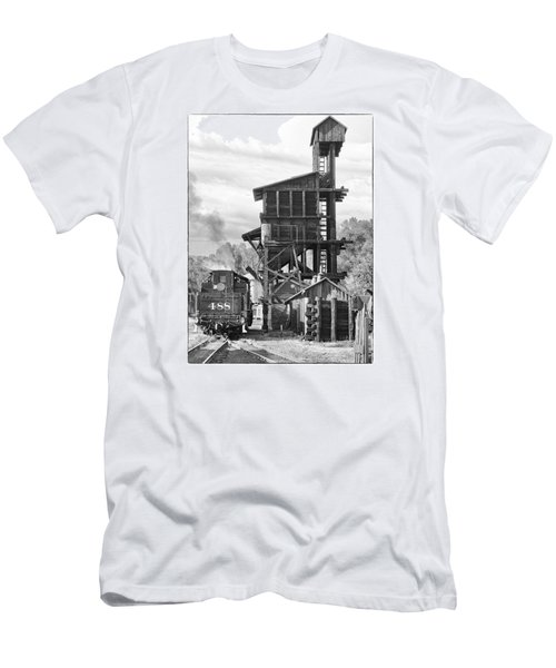 Engine 488 At The Tipple Men's T-Shirt (Slim Fit) by Shelly Gunderson