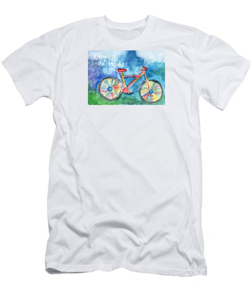 Enjoy The Ride- Colorful Bike Painting Men's T-Shirt (Athletic Fit)